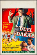 """Movie Posters:Foreign, Duel à Dakar & Other Lot (Cine Vog, 1951). Rolled, Very Fine-. Belgians (2) (14"""" X 22""""). Foreign.. ... (Total: 2 Items)"""