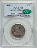 1854-O 25C Huge O Fine 15 PCGS. CAC. PCGS Population: (11/52). NGC Census: (6/33). CDN: $1,575 Whsle. Bid for problem-fr...