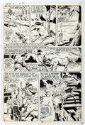 Original Comic Art:Panel Pages, Syd Shores and Wally Wood Marvel Spotlight #1 Story Page 7 Red Wolf Original Art (Marvel, 1971)....
