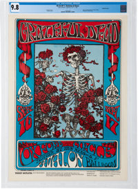 "Grateful Dead 1966 ""Skeleton & Roses"" Concert Poster FD-26 Graded Near-Perfect 9.8"