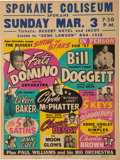Music Memorabilia:Posters, Biggest Show of Stars 1957 Concert Poster w/Fats Domino, Chuck Berry & Many Others (AOR-1.17)...