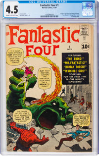 Fantastic Four #1 (Marvel, 1961) CGC VG+ 4.5 Cream to off-white pages