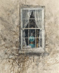 Works on Paper, Thomas William Jones (American, b. 1942). Blue Lamp. Watercolor on paper. 10-1/2 x 8-1/2 inches (26.7 x 21.6 cm) (sight)...