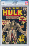 Silver Age (1956-1969):Superhero, The Incredible Hulk #1 (Marvel, 1962) CGC VG 4.0 Off-white...