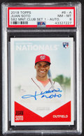Baseball Cards:Singles (1970-Now), 2018 Topps 582 Montgomery Club Juan Soto Autograph #6-A PSA NM-MT 8....