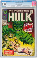 Silver Age (1956-1969):Superhero, The Incredible Hulk #102 (Marvel, 1968) CGC VF 8.0 Cream to off-white pages....