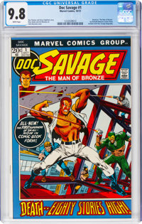 Doc Savage #1 (Marvel, 1972) CGC NM/MT 9.8 White pages