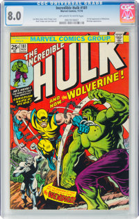The Incredible Hulk #181 (Marvel, 1974) CGC VF 8.0 Off-white to white pages