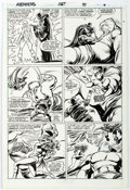 Original Comic Art:Panel Pages, John Buscema and Tom Palmer Avengers #287 Story Page 7 Original Art (Marvel, 1988). ...