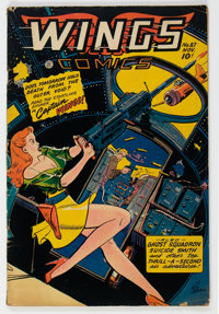 Wings Comics #87 (Fiction House, 1947) Condition: VG