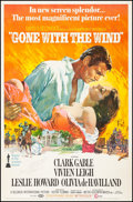 """Movie Posters:Academy Award Winners, Gone with the Wind (MGM, R-1972). Very Fine- on Linen. Autographed Poster (40"""" X 61""""). Howard Terpning Artwork. Academy Awar..."""