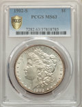Morgan Dollars, 1902-S $1 MS63 PCGS. PCGS Population: (1647/2020 and 20/92+). NGC Census: (885/937 and 13/15+). CDN: $565 Whsle. Bid for pr...