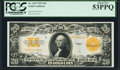 Large Size:Gold Certificates, Fr. 1187 $20 1922 Gold Certificate PCGS About New 53PPQ.. ...
