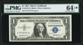 Small Size:Silver Certificates, Solid 7 Serial Fr. 1619 $1 1957 Silver Certificate. PMG Choice Uncirculated 64 EPQ★ .. ...
