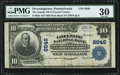 National Bank Notes:Pennsylvania, Downingtown, PA - $10 1902 Plain Back Fr. 626 The Grange NB of Chester County Ch. # 8646 PMG Very Fine 30.. ...