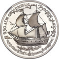 """Russia: USSR palladium Proof """"Ship St. Paval"""" 25 Roubles 1990-(L) PR70 Ultra Cameo NGC"""