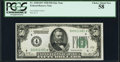 Fr. 2100-D* $50 1928 Federal Reserve Note. PCGS Choice About New 58