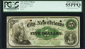 Obsoletes By State:Louisiana, New Orleans, LA- City of New Orleans $5 Jan. 1, 1863 PCGS Choice About New 55PPQ.. ...