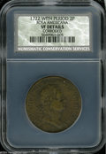 1722 2PENCE Rosa Americana Twopence VF20 Details, Corroded, NCS. Period after REX. Breen-89. The legends and types are c...