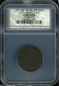 1783 COPPER Nova Constellatio Copper, Blunt Rays Good Details, Corroded, NCS. Crosby 3-C, R.3. The only variety that pai...