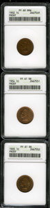 1902 1C PR60 Brown ANACS, milky bright tan color, bold and nearly unabraded; 1904 PR61 Red and Brown ANACS, the mirrore...