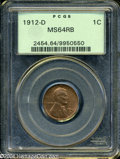 1912-D 1C MS64 Red and Brown PCGS....(PCGS# 2454)