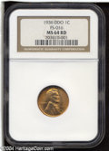 1936 1C Doubled Die Obverse Type 3 MS64 Red NGC. FS-016....(PCGS# 72650)