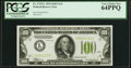 Fr. 2152-L $100 1934 Light Green Seal Federal Reserve Note. PCGS Very Choice New 64PPQ