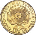 Peru:South Peru, Peru: South Peru. Republic gold 8 Escudos 1838 CUZCO-MS AU58 NGC,...