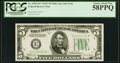 Small Size:Federal Reserve Notes, Fr. 1959-E* $5 1934C Wide Federal Reserve Note. PCGS Choice About New 58PPQ.. ...