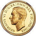 Great Britain: George VI gold Proof Sovereign 1937 PR63★ NGC