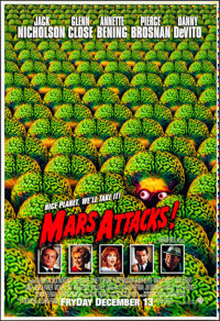 """Mars Attacks! (Warner Brothers, 1996). Rolled, Very Fine/Near Mint. Printer's Proof One Sheet (28"""" X 41"""") SS I..."""