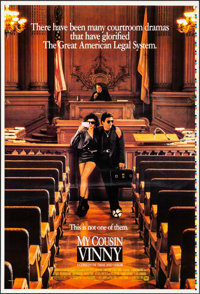 "My Cousin Vinny (20th Century Fox, 1992). Rolled, Very Fine+. Printer's Proof One Sheet (27"" X 41""). Comedy..."