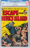 Golden Age (1938-1955):Adventure, Escape from Devil's Island #1 (Avon, 1952) CGC FN 6.0 Off-white to white pages....