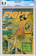 Golden Age (1938-1955):War, Fight Comics #35 (Fiction House, 1944) CGC VF+ 8.5 Cream to off-white pages....