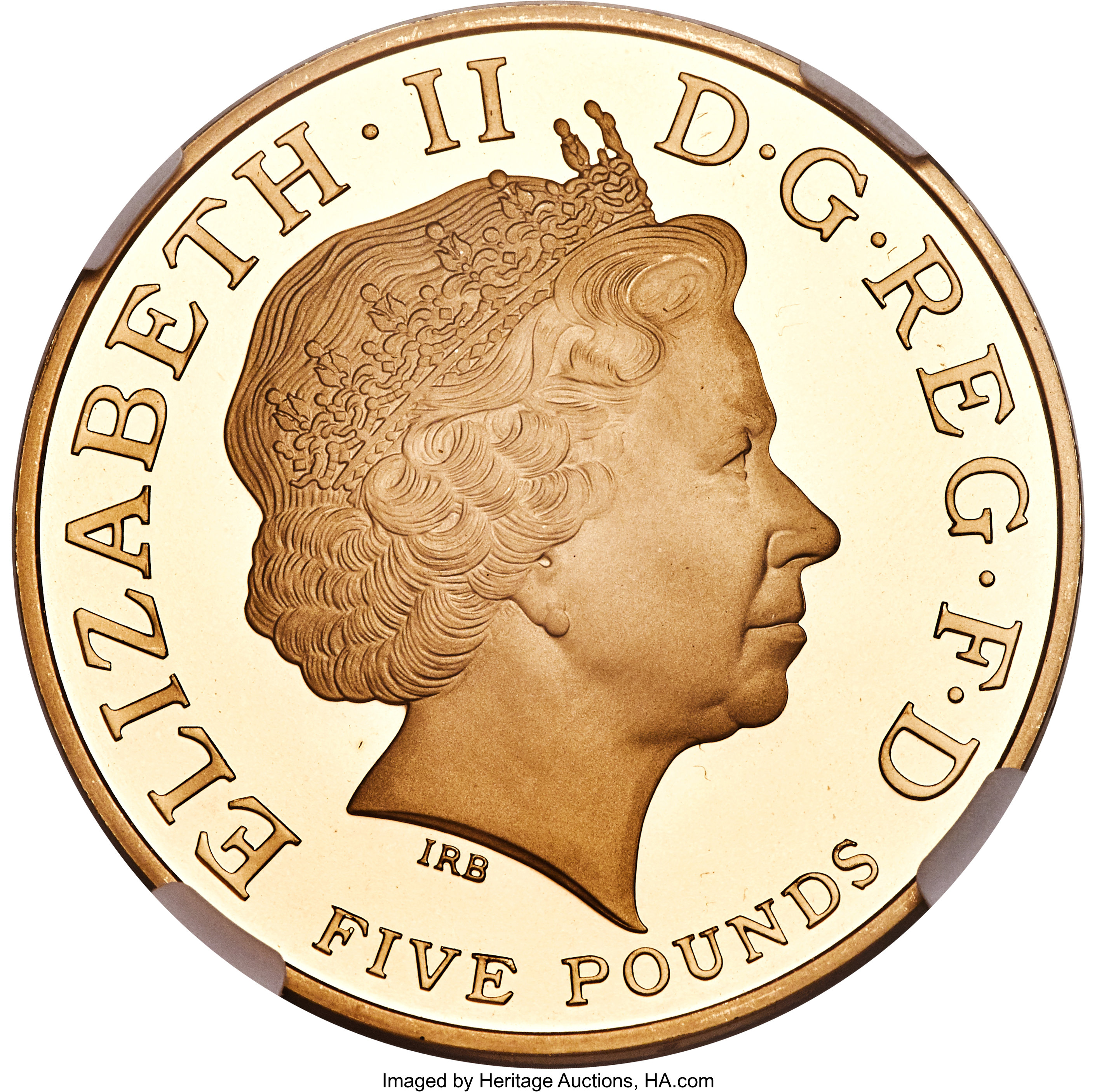 Great Britain Elizabeth Ii Gold Proof 80th Birthday 5 Pounds Lot 31734 Heritage Auctions