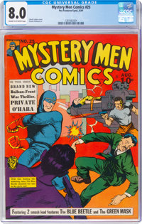 Mystery Men Comics #25 (Fox, 1941) CGC VF 8.0 Cream to off-white pages
