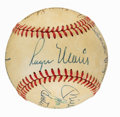 Baseball Collectibles:Balls, 1961 New York Yankees Stars Signed Baseball with Mantle & Maris....