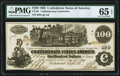 CT39/290A $100 1862 Contemporary Counterfeit PMG Gem Uncirculated 65 EPQ