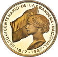 """Chile, Chile: Republic gold Proof """"National Flag Anniversary"""" 500 Pesos 1968-So PR64 Ultra Cameo NGC,..."""
