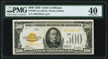 Small Size:Gold Certificates, Fr. 2407 $500 1928 Gold Certificate. PMG Extremely Fine 40.. ...