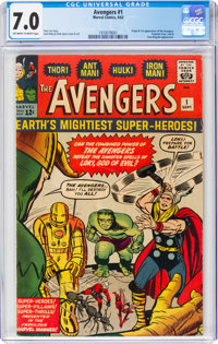 The Avengers #1 (Marvel, 1963) CGC FN/VF 7.0 Off-white to white pages