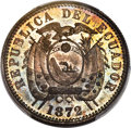 Ecuador: Republic Specimen Centavo 1872-HEATON SP65 Red and Brown PCGS