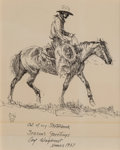 Works on Paper, Olaf Wieghorst (American, 1899-1988). Out of My Sketchbook, circa 1957. Ink on paper. 8-1/4 x 6-1/4 inches (21.0 x 15.9 ...