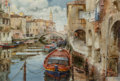 Works on Paper, Jack Lestrade (French/American, b. 1932). Venice. Watercolor on paper. 12-3/4 x 19 inches (32.4 x 48.3 cm). Signed lower...