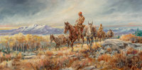 Hank Lawshe (American, 1935-1993) Morgan's Trail, 1980 Oil on canvas 15 x 30 inches (38.1 x 76.2