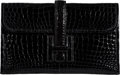 "Luxury Accessories:Accessories, Hermès Black Niloticus Crocodile Jige Mini Clutch. I Square, 2005. Condition: 2. 8"" Width x 5"" Height x 1"" Depth..."