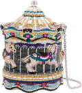 "Luxury Accessories:Bags, Judith Leiber Crystal Carousel Minaudiere. Condition: 1. 5"" Width x 5"" Height x 5"" Depth. ..."