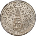 India:British India, India: British India. Madras Presidency 1/2 Pagoda ND (1808-1811) MS62 PCGS,...