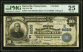 National Bank Notes:Pennsylvania, Harrisville, PA - $10 1902 Date Back Fr. 616 The First NB Ch. # (E)6859 PMG Very Fine 25.. ...